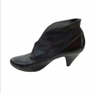 Aldo Black Leather Flexible Ankle Booties Boots